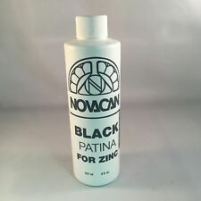 Novacan Black Patina for Zinc (8oz) Stained Glass Supplies