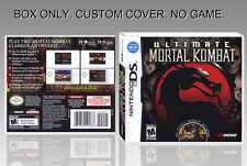 NINTENDO DS : ULTIMATE MORTAL KOMBAT. ENGLISH. COVER CUSTOM + BOX. (NO GAME).