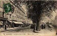 CPA  Quimper - La Rue du Parc et l'Odet - Hotel de l'Epée  (384340)