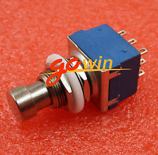 5PCS 3PDT 9-pin Guitar Effects Pedal Box Stomp Foot Metal Switch True Bypass