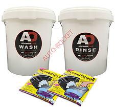 Autobrite Direct - Wash & Rinse Car Buckets plus 2 black scratchshields
