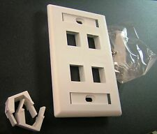 4 Port Single-Gang Face Plate fits all ICCjacks and modules (white)