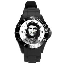 Che Guevara Round Plastic Black Sport Watch Large Size