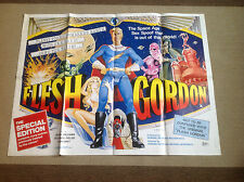 FLESH GORDON 1970s X-rated comedy sex erotic spoof UK QUAD POSTER folded Ex cult