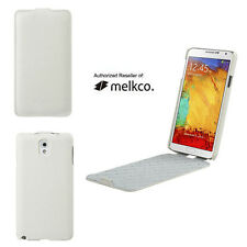 Melkco WHITE Premium Leather Case Cover For Samsung Galaxy Note 4 - Jacka Type