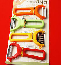 4 Pcs Multi-function Peeler Potato Fish Vegetable Grater Slicer Radish Carrot