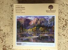 """Wentworth 1000 Piece Wooden Jigsaw Puzzle, """"Whimsy"""" pieces - Yosemite Fall"""