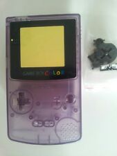 CARCASA COMPLETA+PANTALLA COMPATIBLE GAME BOY COLOR TRANS PURPLE NEW/NUEVO-3