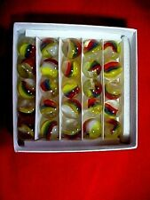 """SET OF 25 """"MARBLE KING"""" ST MARYS CATS EYES MARBLES MIMIC SET $10.99 POSTPAID !!"""