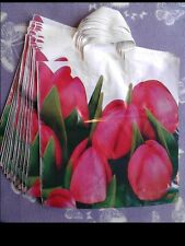 50x Flowers_ tulips , plastic printed carrier bags ,39x40x48cm