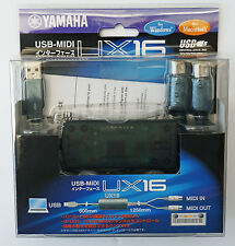 Yamaha UX16 USB-MIDI Converter (Cable) UX-16 Interface