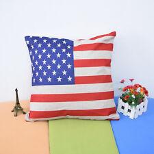 American Flag European STYLE Throw Pillow Case Decor Cushion Cover Cotton Linen
