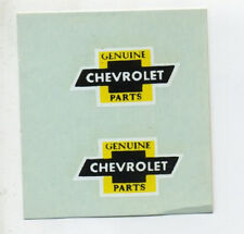 vtg chevrolet water decal parts window hot rod drag race speed shop dragster