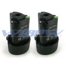 TWO Power Tool Batteries for MAKITA 10.8V BL1013 BL1014 194550-6 Battery x2