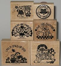 Stampin' Up! Rubber Stamp Partial Set of 6 - For Goodness Sake