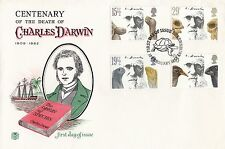 (94756) CLEARANCE GB Stuart FDC Charles Darwin Shrewsbury 10 Feb 1982