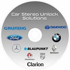 CAR AUDIO/RADIO STEREO CODE SOFTWARE UNLOCK SOLUTIONS CD FORD BMW DAEWOO GRUNDIG