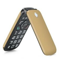 UNLOCKED BIG BUTTON SENIORS MOBILE CELL PHONE GSM SOS ELDERLY LOUD SPEAKER GOLD