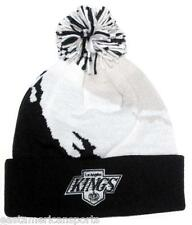Los Angeles Kings NHL Mitchell & Ness Black Pom Ball Knit Hat Cap Winter Beanie
