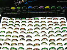 30pcs Wholesale Lots Stainless Steel Enamel Rings Change Color with mood J125