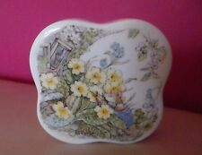 RARE ROYAL DOULTON BRAMBLY HEDGE - TRINKET/CLOVER BOX, SPRING - PERFECT !!