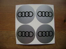 4x 90 mm fits audi wheel STICKERS center badge centre trim cap hub bk free alloy