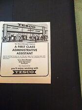 d7-1 ephemera 1971 advert tesco administrative assistant vacancy