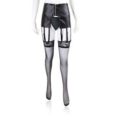New Bondage Fetish Faux Leather Pants With Garters,Suspenders,Sexy Outfit.