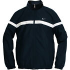 Nike Men's Classic Sptcasl Navy White Zip-Up Long Sleeve Woven Jacket 404501-474
