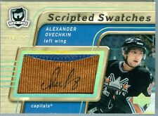 2005-06 UD THE CUP ALEXANDER OVECHKIN SCRIPTED SWATCHES 2 COLOUR  14/15