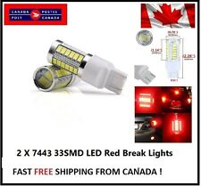 2x Red T20 7440 7443 W21/5W 33SMD LED Tail Stop Brake Light Fog Turn Signal Lamp