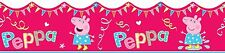 SHAPED PEPPA PIG SELF ADHESIVE WALLPAPER BORDER LICENSED PRODUCT 5 Meter Roll