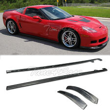 For 05-13 Chevy Corvette C6 Z06 ZR1 real Carbon Fiber Side Skirts Body kit