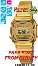 AUSSIE SELLER CASIO WATCH VINTAGE RETRO LADIES GOLD LA670WGA-9DF LA670WGA LA670