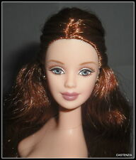 NUDE BARBIE MATTEL GRAND ENTRANCE AUBURN BLUE EYES MACKIE FACE DOLL FOR OOAK