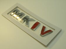 VW GOLF GTI MK4 MK1V CHROME RED REAR CAR BOOT BADGE RETRO CLASSIC POLO JETTA FOX
