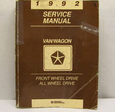 Service Manual 1992 Town & Country, Caravan, And Voyager Shop Manual OEM  Used