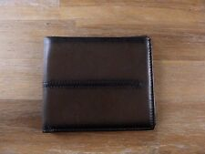 auth TOD'S Tods brown burnished leather bifold wallet - NWOT