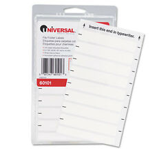 Universal File Folder Labels for Typewriters, 3-13/16 x 9/16, White, 248/Pack