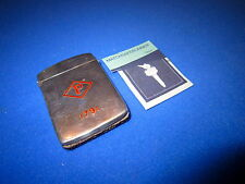 SILVER b'ham 1912, West & SON enamel1791 vesta case match sicuro Striker