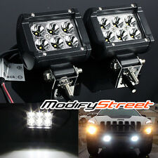 "2PC 4"" 6000K WHITE 18W 1800LM 6 CREE LED OFF ROAD SPOT LIGHT BAR JEEP/ATV/4X4"