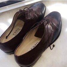 Enzo Angiolini Oxford Leather Shoes Brown Black 6,5 M Leather Lace NWOT Step