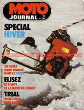 MOTO JOURNAL  581 Essai YAMAHA XT 400 BFG 1300 ; SUZUKI RM  Dakar ELEPHANTS 1982