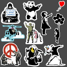 9x Banksy Aufkleber set vinyl Sticker graffiti street art kunst bmx skate decal
