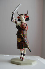 "Cow Parade Item # 7246 Sam-Moo-Rai Samurai Cow Figurine 10"" Beautiful"