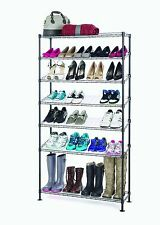 7-Tier Wire Shoe Rack – Black - Hold 30 Pairs of Shoes