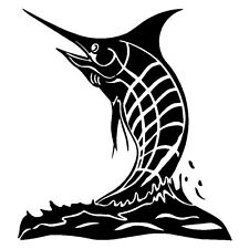 2 Aufkleber Angry Marlin Fish Fisch Auto Sticker Decal 14 Cm Tuning JDM