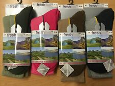 3 Pairs Womens Ultimate Walking Socks By FRESHFEEL Size 4-7 Hiking Boot Work