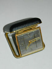 ancien REVEIL voyage LANCEL 2 JEWELS wecker TRAVEL alarm CLOCK vintage GERMANY