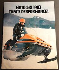VINTAGE 1982 MOTO-SKI SNOWMOBILE SONIC FULL LINE SALES BROCHURE 18 PAGES  (803)